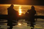 Binghamton University Crew Team practice session - watching the sunrise on the Susquehanna River