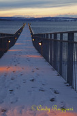 Sunset in Winter, Pier on Skaneateles Lake