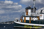 Tugboat in Newport Rhode Island harbor