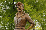 Lucy Statue, located in the Lucille Ball Memorial Park in the village of Celoron, New York