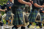 Bagpipes and kilts at the parade