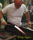 Vitrix Hot Glass Studio, glassblowing demonstration, Corning New York