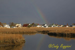 Tangier Island, VA, rainbow after the storm