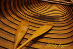 Oars and Interior of Old Wooden Boat