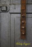 Old door and door bell