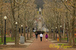Walkway to Centerway Square and Clock Tower, Corning New York