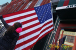 Young Girl and Flag
