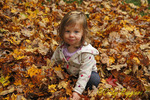 In the leaf pile