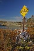 Memorial to a biker, Newport Rhode Island