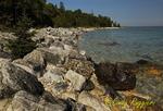 Coast of Mackinac Island on Lake Michigan