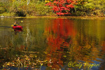 Kayaking in Brant Lake, Adirondack region, New York