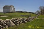 Barn and stone wall, Block Island Rhode Island