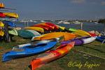 Kayaks on the shore, New Shoreham Block Island, Rhode Island
