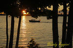Sunset on the St. Lawrence River, view from Clayton New York, Thousand Islands region