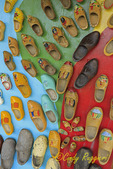 Display of wooden shoes
