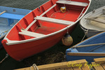 Rowboats lined up at the dock, Rockport, Massachusetts