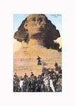 Visiting the Sphinx, Egypt, 1909