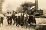 Steam Roller and Workers