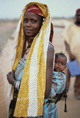 Fulani woman with baby