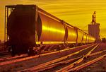 grain hopper rail cars/ inland grain terminal