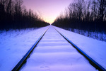 railway during winter