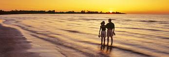 couple along deserted beach