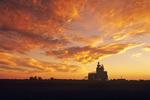 inland grain terminal/sunset