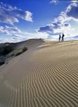 Hikers, Spirit Sands, Spruce Woods Provincial Park, Manitoba, Canada