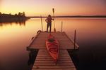 kayaking, Nutimik Lake, Whiteshell Provincial Park, Manitoba, Canada