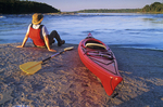 kayaking, Nutimuk Lake, Whiteshell Provincial Park, Manitoba, Canada