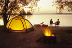 Otter Falls campground, Whiteshell Provincial Park, Manitoba, Canada