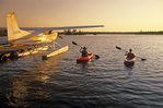 kayaking, Dorothy Lake, Whiteshell Provincial Park, Manitoba, Canada  Model Release DR-01/02