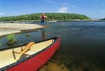 canoe, Nutimik Lake, Whiteshell Provincial Park, Manitoba, Canada