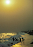 children playing on the beach, Lome, Togo, West Africa