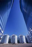 crop storage bins/silos near Beausejour, Manitoba, Canada