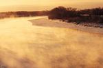 winter along the Red River, near Winnipeg, Manitoba, Canada