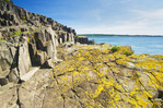 basalt rock cliffs, Brier Island, Bay of Fundy, Nova Scotia, Canada
