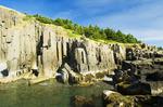 basalt rock cliffs, Brier Island, Bay of Fundy, Nova Scotia, Canada
