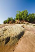 sandstone shoreline, near Lower Economy in the Minas Basin, Bay of Fundy, Nova Scotia