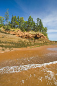 outgoing tide/sandstone shoreline, near Lower Economy in the Minas Basin, Bay of Fundy, Nova Scotia