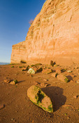 low tide/sandstone cliffs, Cape Blomidon Provincial Park in the Minas Basin, Bay of Fundy, Nova Scotia