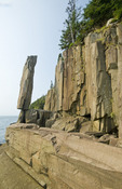 Balancing Rock, basalt rock cliffs, Long Island, Bay of Fundy, Nova Scotia, Canada