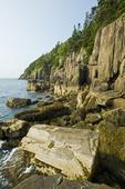 basalt rock cliffs, Long Island, Bay of Fundy, Nova Scotia, Canada