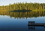 fishing dock, Two Mile Lake, Duck Mountain Provincial Park, Manitoba, Canada