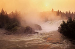 sunrise at Pisew Falls Provincial Park along the Grass River, Manitoba, Canada