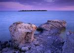 limestone cliffs, Steep Rock, along Lake Manitoba, Canada