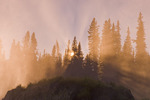 mist from Pisew Falls along the Grass River, Manitoba, Canada