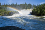 Pisew Falls Provincial Park, along the Grass River, Northern Manitoba, Canada