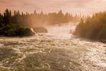 Pisew Falls Povincial Park along the Grass River, Manitoba, Canada