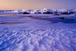 ice on Lake Winnipeg, Manitoba, Canada